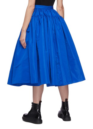 Back View - Click To Enlarge - ALEXANDER MCQUEEN - Gathered puff maxi skirt