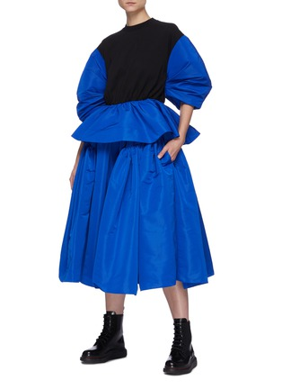 Figure View - Click To Enlarge - ALEXANDER MCQUEEN - Gathered puff maxi skirt