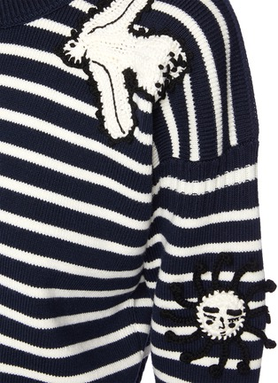 - ALEXANDER MCQUEEN - Embroidered patch stripe sweater