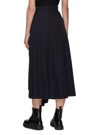 Back View - Click To Enlarge - ALEXANDER MCQUEEN - Belted drape military skirt