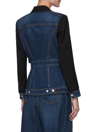 Back View - Click To Enlarge - ALEXANDER MCQUEEN - Hybrid tailored denim jacket