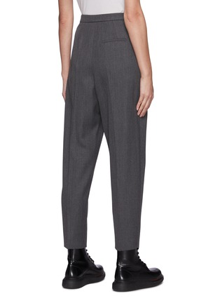 Back View - Click To Enlarge - ALEXANDER MCQUEEN - Wool Twill Suiting Pants