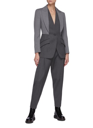 Figure View - Click To Enlarge - ALEXANDER MCQUEEN - Wool Twill Suiting Pants