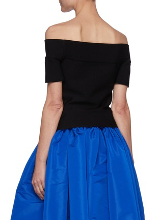 Back View - Click To Enlarge - ALEXANDER MCQUEEN - Off-shoulder stretch top
