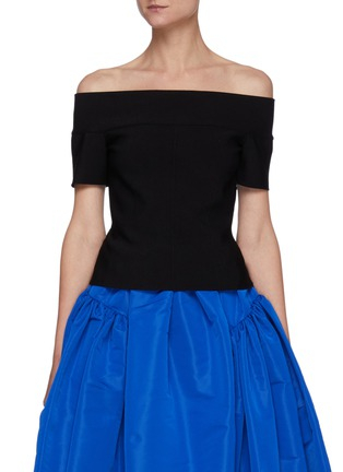 Main View - Click To Enlarge - ALEXANDER MCQUEEN - Off-shoulder stretch top
