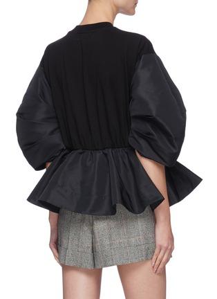 Back View - Click To Enlarge - ALEXANDER MCQUEEN - Gather sleeve flared hem sweatshirt