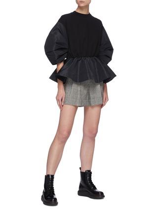 Figure View - Click To Enlarge - ALEXANDER MCQUEEN - Gather sleeve flared hem sweatshirt
