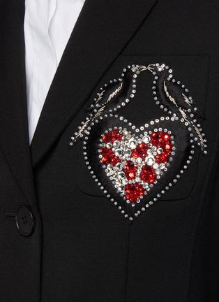 - ALEXANDER MCQUEEN - Embroidered love bird embellished  wool blazer