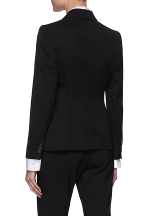 Back View - Click To Enlarge - ALEXANDER MCQUEEN - Embroidered love bird embellished  wool blazer