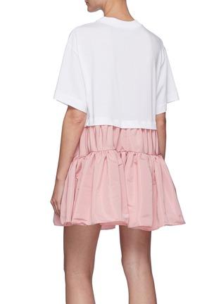 Back View - Click To Enlarge - ALEXANDER MCQUEEN - Crew neck ruffle skirt dress