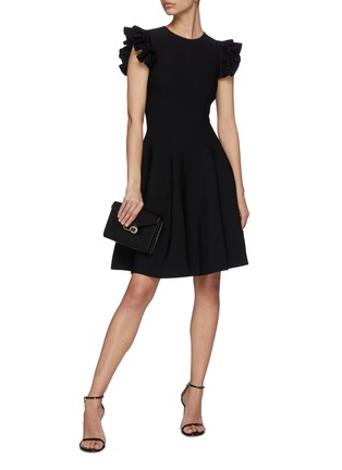 Figure View - Click To Enlarge - ALEXANDER MCQUEEN - Ruffle sleeve mini dress