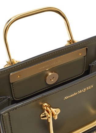 Detail View - Click To Enlarge - ALEXANDER MCQUEEN - 'The Short Story' Metal Handle Leather Tote