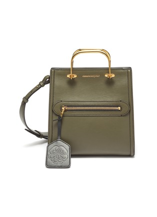 Main View - Click To Enlarge - ALEXANDER MCQUEEN - 'The Short Story' Metal Handle Leather Tote