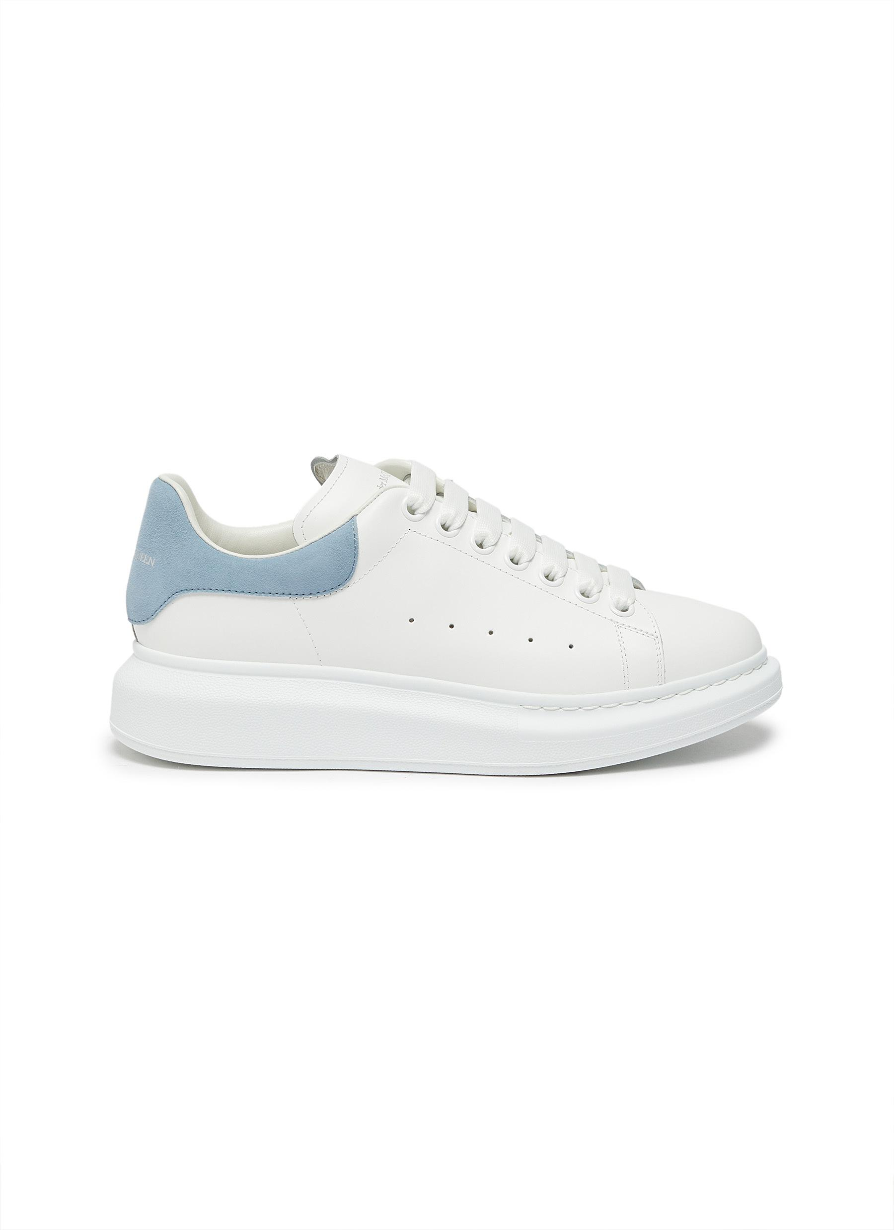 'Oversized Sneakers' in Calfskin Leather with Contrast Heel Tab