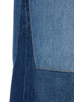 - VICTORIA BECKHAM - Patchwork flared jeans
