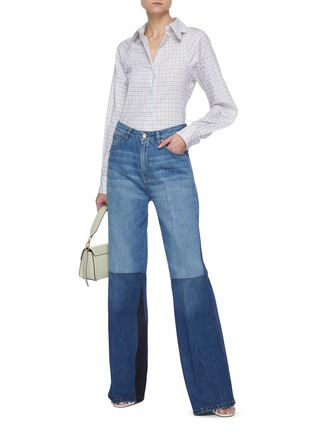 Figure View - Click To Enlarge - VICTORIA BECKHAM - Patchwork flared jeans