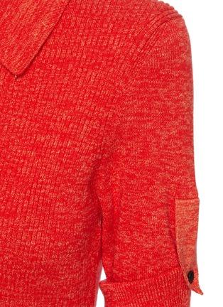 - VICTORIA BECKHAM - Belted Cotton Rib Knit Polo Shirt