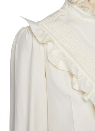 - VICTORIA BECKHAM - Ruffle Detail Button Down Silk Blouse