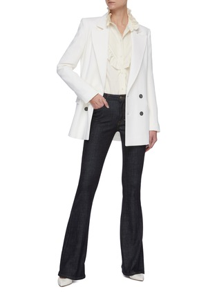 Figure View - Click To Enlarge - VICTORIA BECKHAM - Ruffle Detail Button Down Silk Blouse