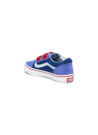 Detail View - Click To Enlarge - VANS - 'Old Skool' Colourblock Double Velcro Closure Suede Kids Sneakers