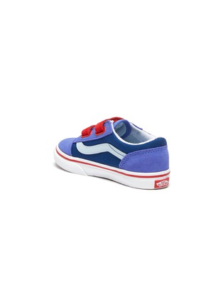 Detail View - Click To Enlarge - VANS - 'Old Skool' Colourblock Double Velcro Closure Suede Toddler Sneakers