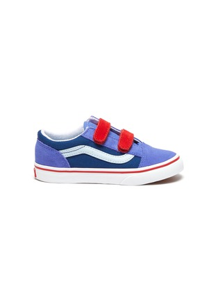 Main View - Click To Enlarge - VANS - 'Old Skool' Colourblock Double Velcro Closure Suede Toddler Sneakers