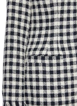 - OSCAR DE LA RENTA - Fringe Trim Pleated Check Coat