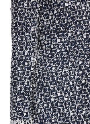 - OSCAR DE LA RENTA - Fringe Edge Woven Tweed Coat
