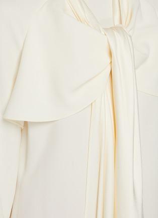 - OSCAR DE LA RENTA - Collar Scarf Detail Tie Front Blouse