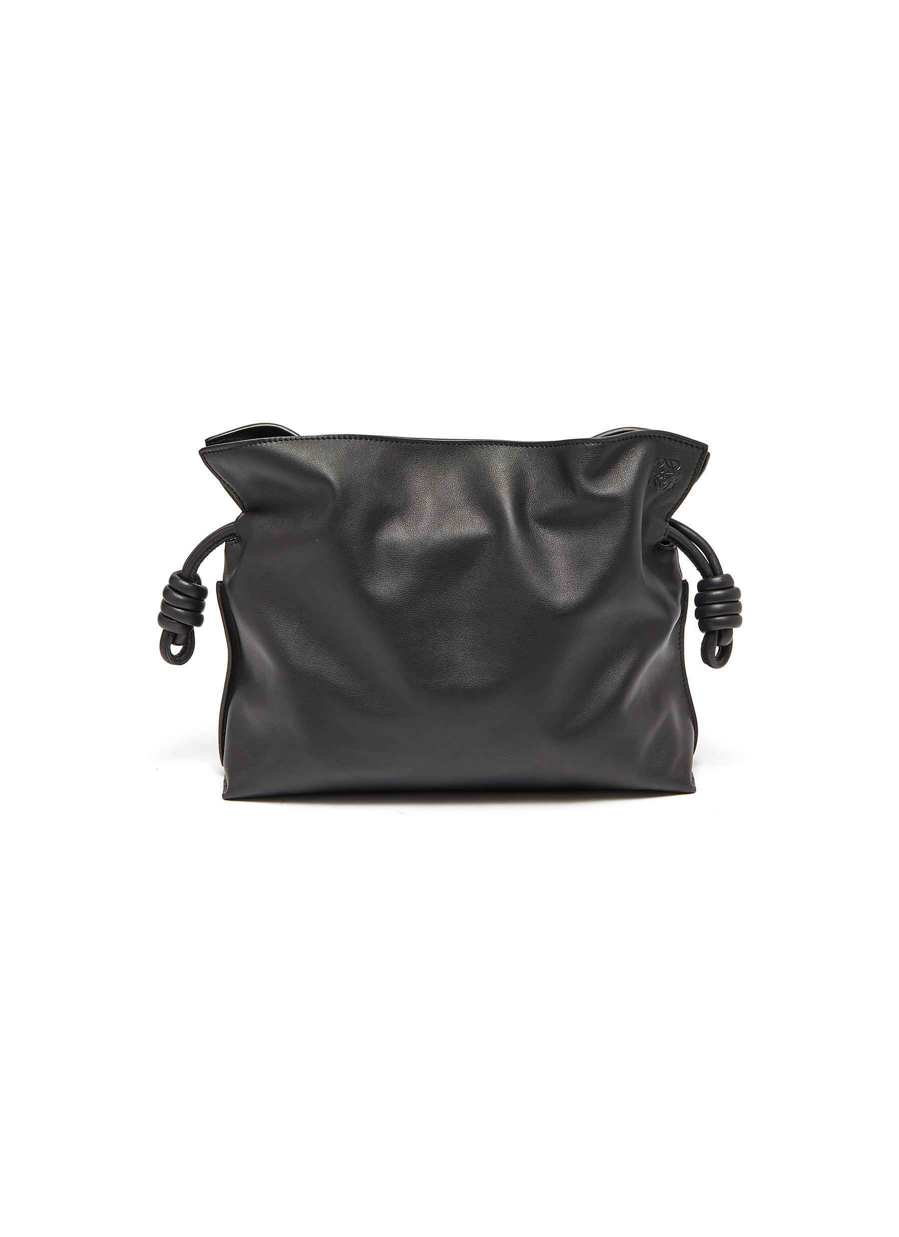 Flamenco' leather clutch