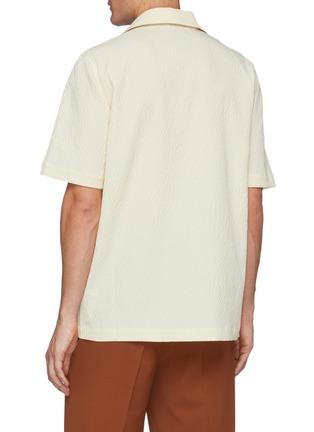Back View - Click To Enlarge - NANUSHKA - Menci' Logo Embroidered Patch Pocket Shirt