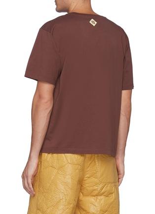 Back View - Click To Enlarge - NANUSHKA - Reece' Logo Embroidered T-shirt