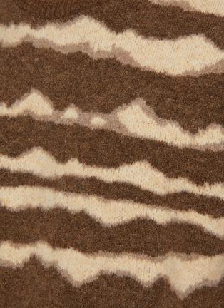 - NANUSHKA - Virote' Jagged Stripe Crewneck Sweater