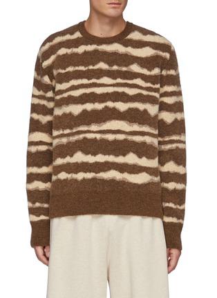 Main View - Click To Enlarge - NANUSHKA - Virote' Jagged Stripe Crewneck Sweater