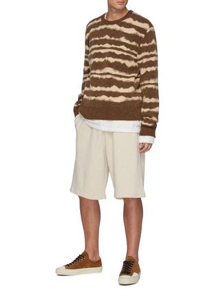 Figure View - Click To Enlarge - NANUSHKA - Virote' Jagged Stripe Crewneck Sweater