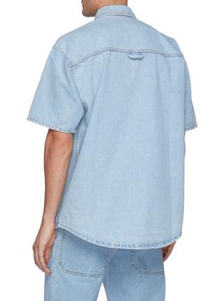 Back View - Click To Enlarge - NANUSHKA - Wery Denim Boxy Shirt
