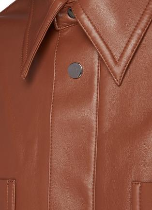 - NANUSHKA - Martin' Regenerated Oversized Leather Shirt Jacket