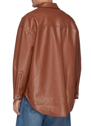 Back View - Click To Enlarge - NANUSHKA - Martin' Regenerated Oversized Leather Shirt Jacket