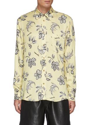 Main View - Click To Enlarge - NANUSHKA - Kaler' All-over Floral Print Oxford Shirt