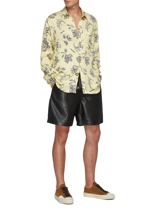 Figure View - Click To Enlarge - NANUSHKA - Kaler' All-over Floral Print Oxford Shirt