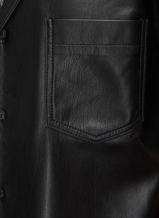 - NANUSHKA - Osmo' Vegan Leather Camp Shirt