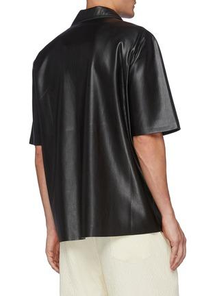 Back View - Click To Enlarge - NANUSHKA - Osmo' Vegan Leather Camp Shirt