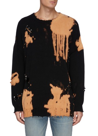 Main View - Click To Enlarge - R13 - Bleached Distressed Oversized Sweater