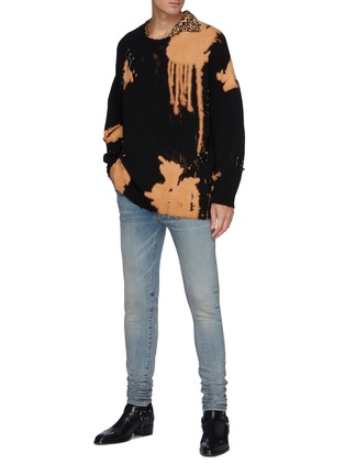 Figure View - Click To Enlarge - R13 - Bleached Distressed Oversized Sweater