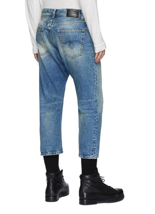 Back View - Click To Enlarge - R13 - Light wash cropped jeans