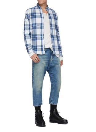 Figure View - Click To Enlarge - R13 - Light wash cropped jeans