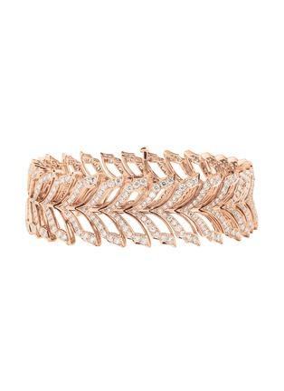 Main View - Click To Enlarge - STEPHEN WEBSTER - Magnipheasant' diamond 18k rose gold bracelet