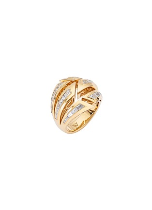 Main View - Click To Enlarge - STEPHEN WEBSTER - Dynamite bombé' diamond 18k gold ring