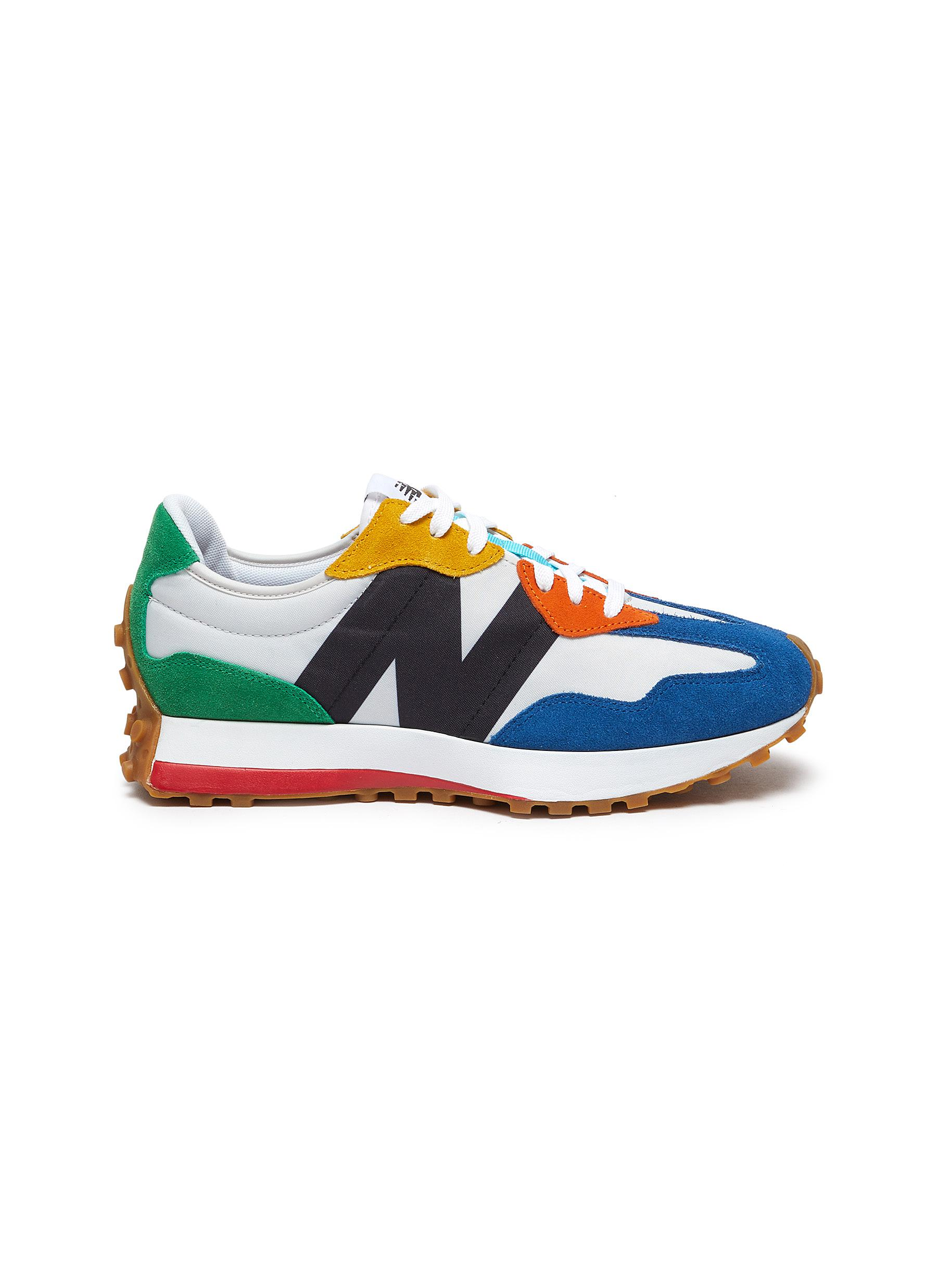 New Balance Suedes '327 PRIMARY BRIGHTS' LOW TOP SNEAKERS