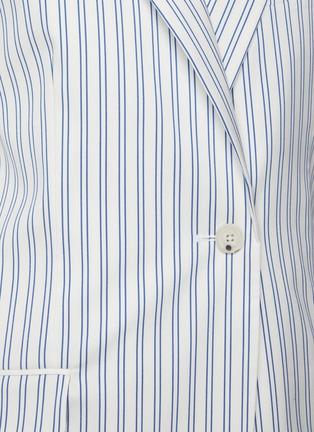 - PORTSPURE - Vertical Stripe Single Breast Blazer